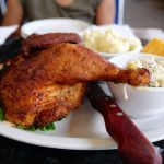 chicken plate lunch at beach bums maui