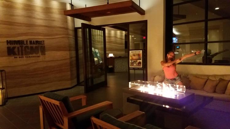 cool glass fireplace at humble market kitchin maui