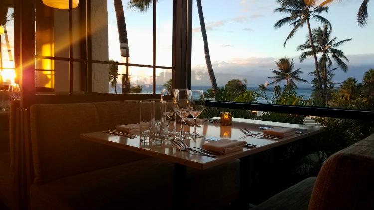 ocean view table at humble market kitchin maui
