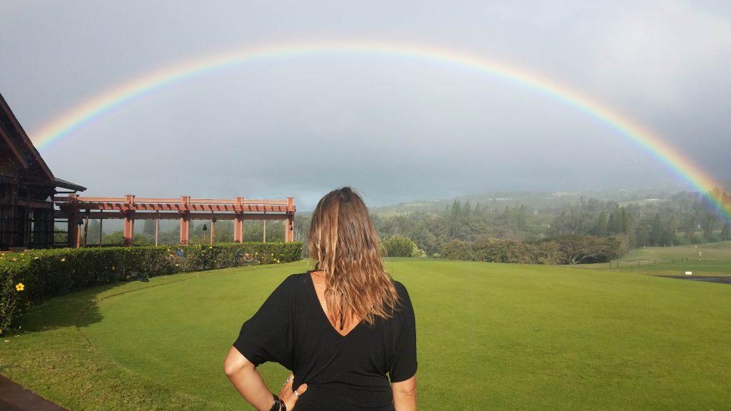 rainbow in kapalua at pour house maui - best maui happy hours - kayla delong