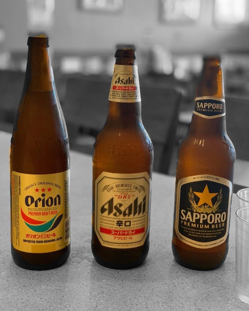 japanese beers at izakaya genbe - best happy hour kihei maui