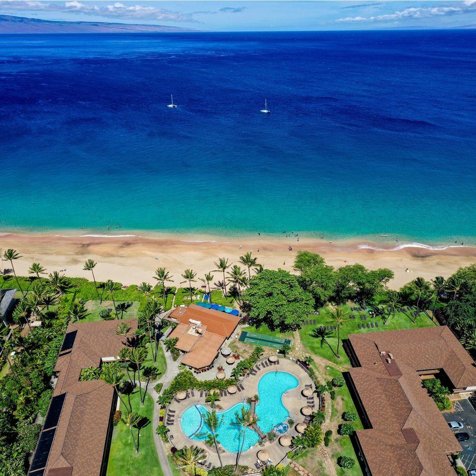 Aston Kaanapali Maui Aerial View