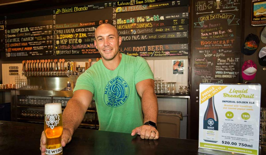 Garrett owner of Maui Brewing - Maui Happy Hours
