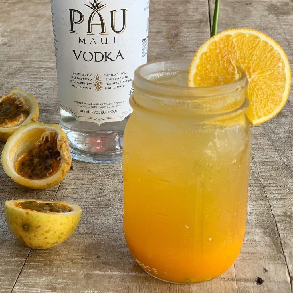 Pau Maui Vodka Cocktail at Moku Roots in Lahaina, HI