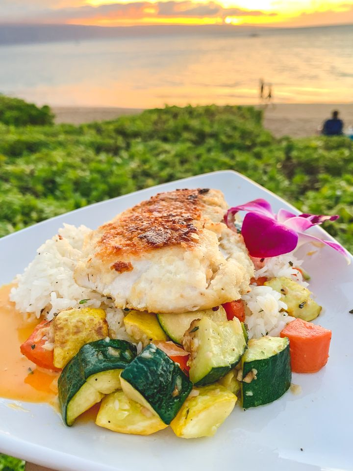 Sunset Dining at Castaway Cafe Maui