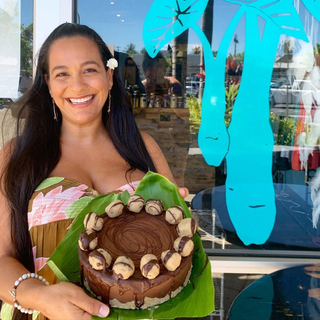 Vegan Chocolate Cake at Moku Roots Restaurant in Lahaina, Maui, Hawaii