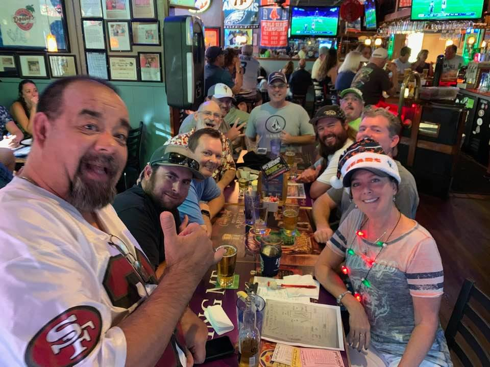 watching nfl games during football season at dollies pub in kahana, maui, hawaii