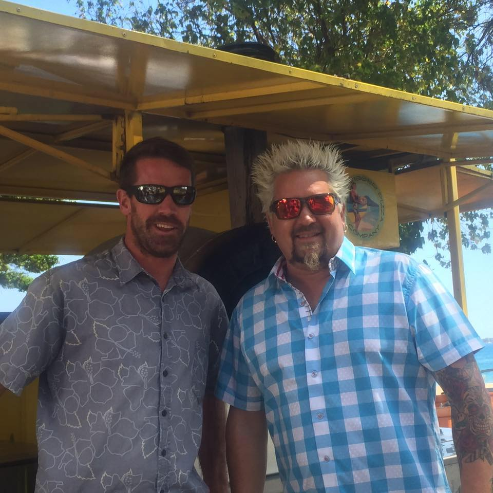 Guy Fieri at Outrigger Pizza Company