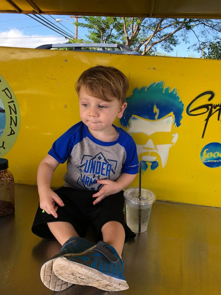 Little Guy at Outrigger Pizza Maui