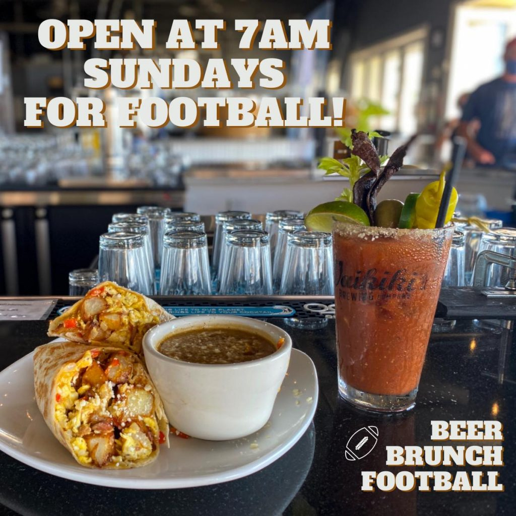 nfl sunday brunch waikiki brewing company maui