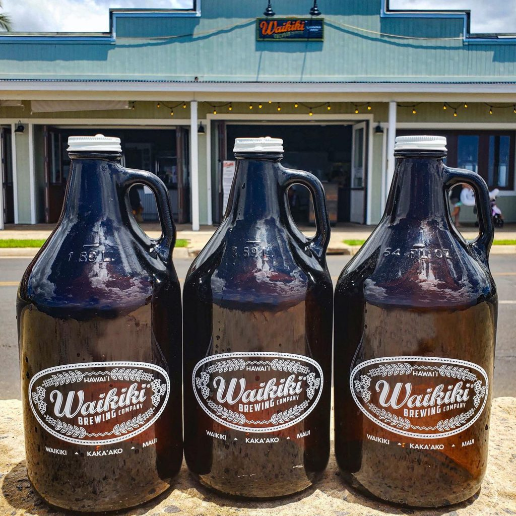 craft beer growlers waikiki brewing maui