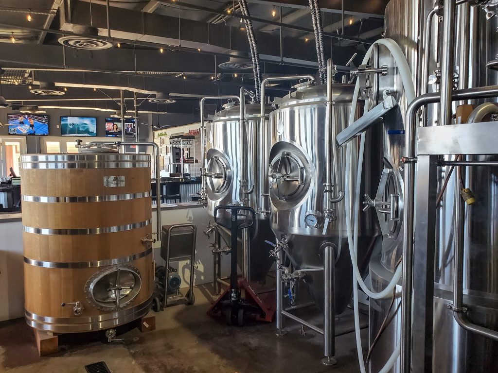 craft beer brewing facility at waikiki brewing lahaina maui hawaii