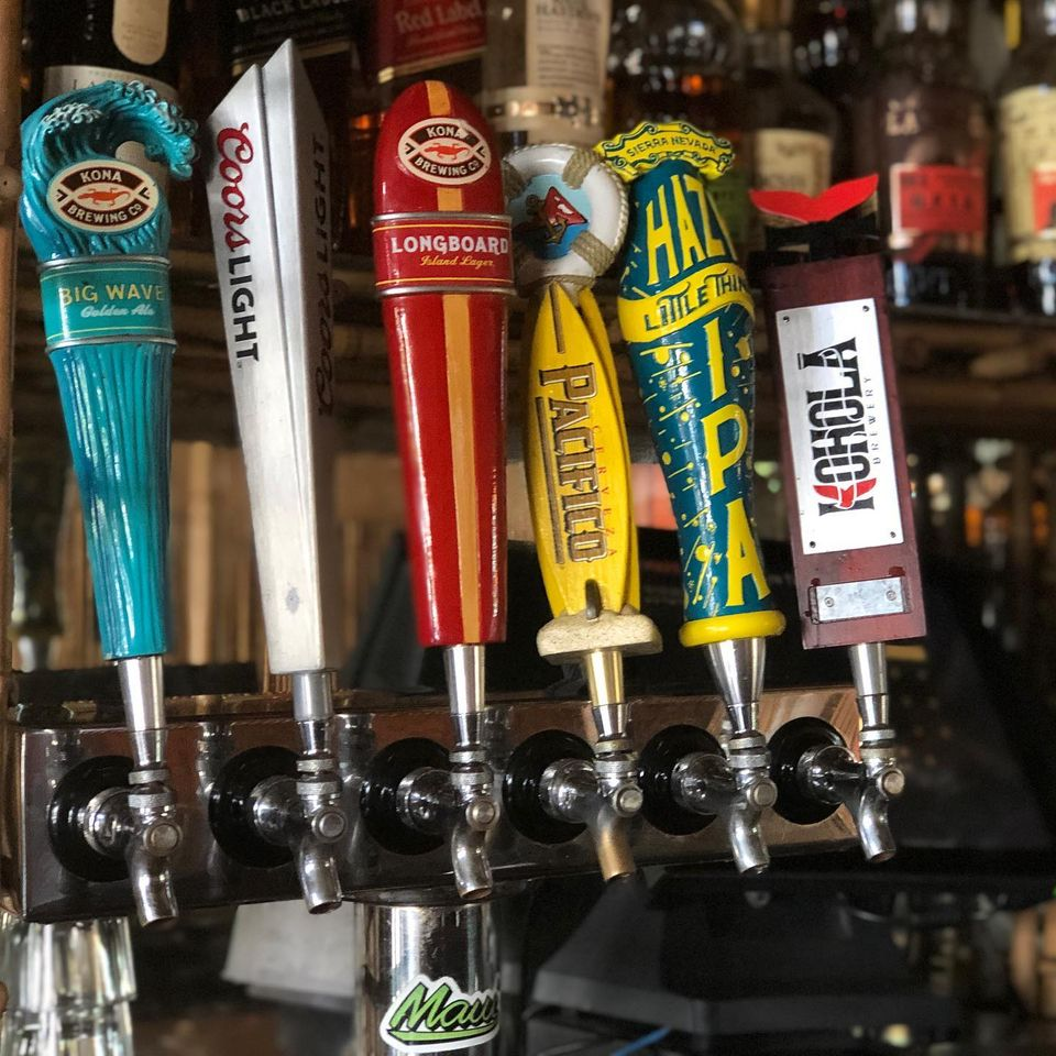 happy hour draft beers south shore tiki lounge maui