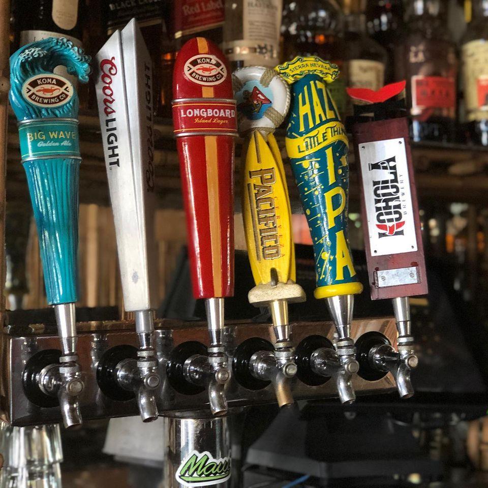 happy hour draft beers south shore tiki lounge maui