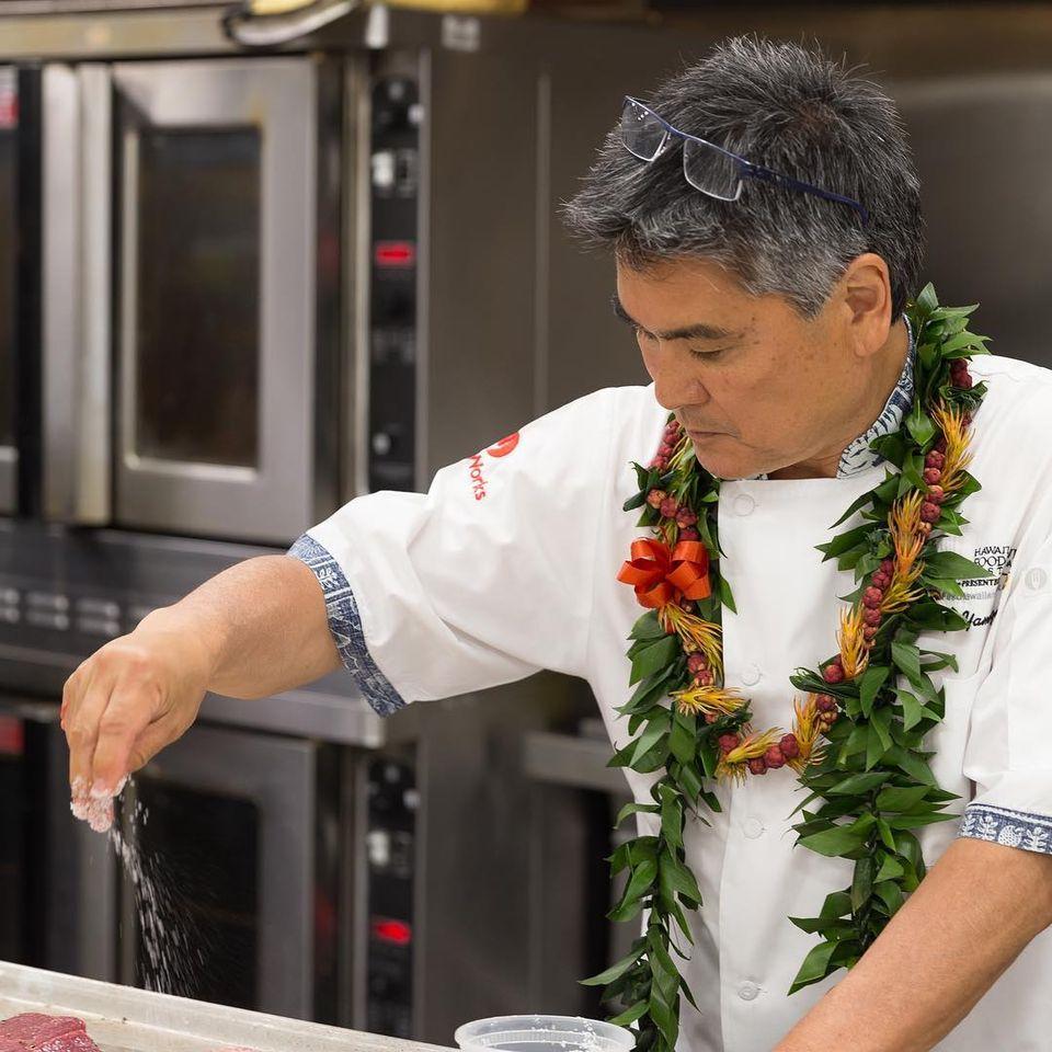 Chef Roy Yamaguchi, Humble Market Kitchin in Wailea, Maui