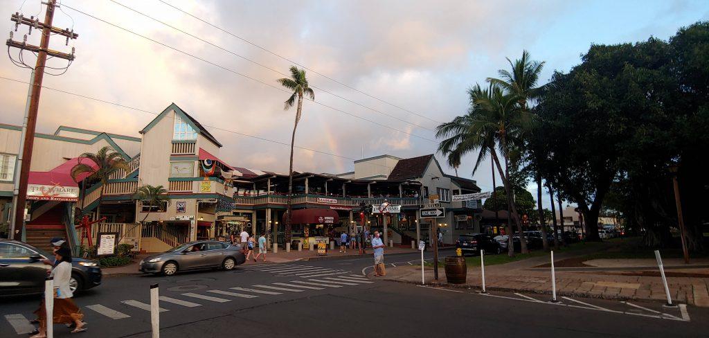 Rainbow on Front Street in Lahaina Maui