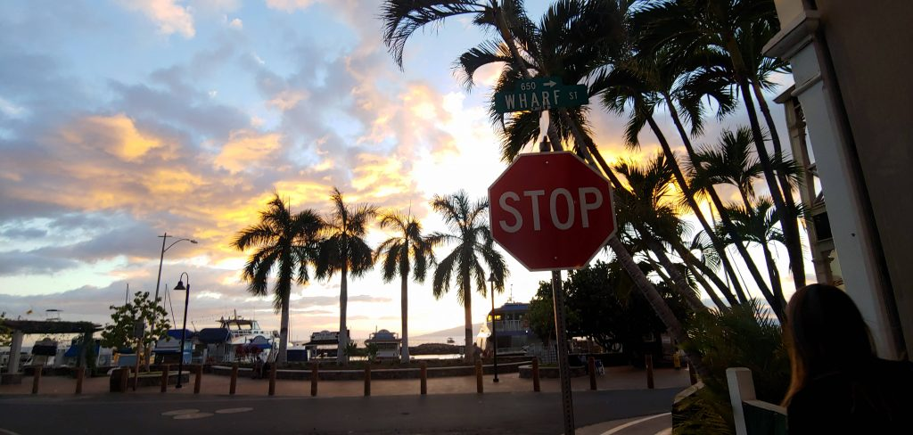 Sunset in downtown Lahaina Maui