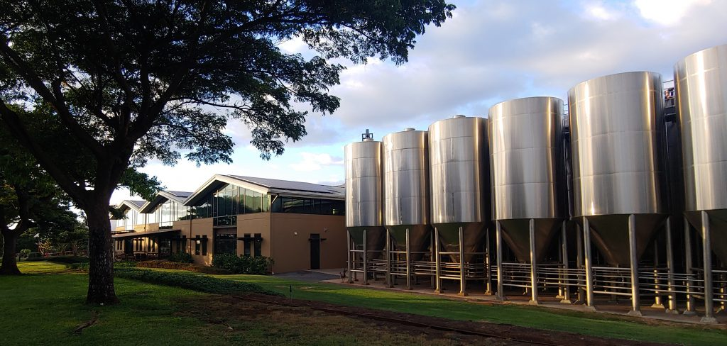 beer brewing tanks at maui brew kihei