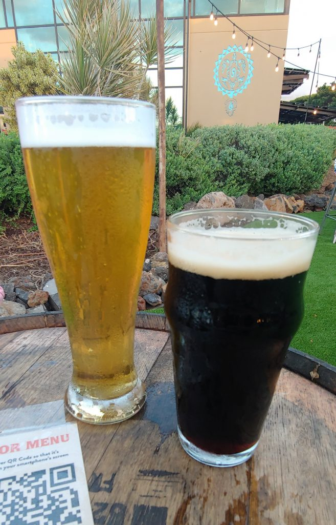 happy hour craft beers at maui brewing kihei hawaii