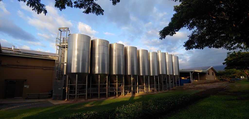maui brew co fermentation tanks - hawaii craft breweries