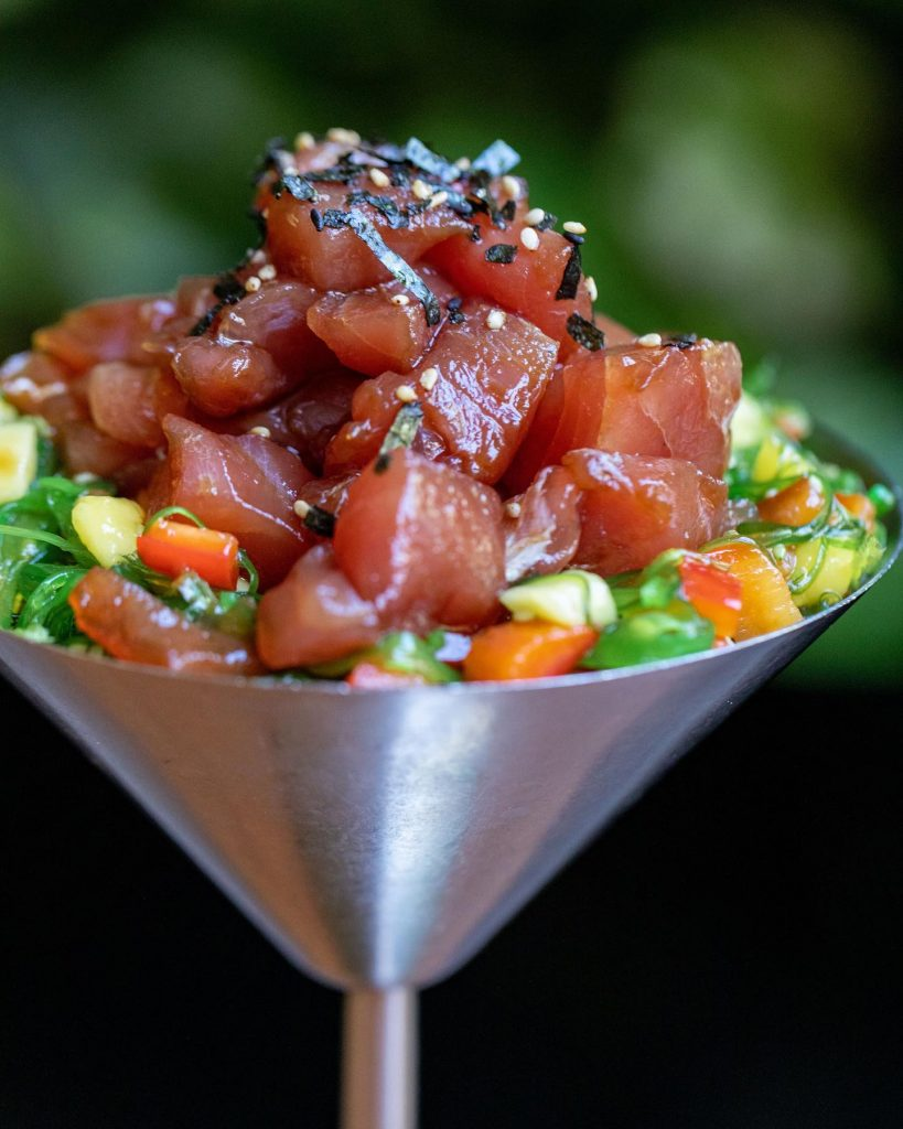 Happy Hour Ahi Poke Bowl Appetizer