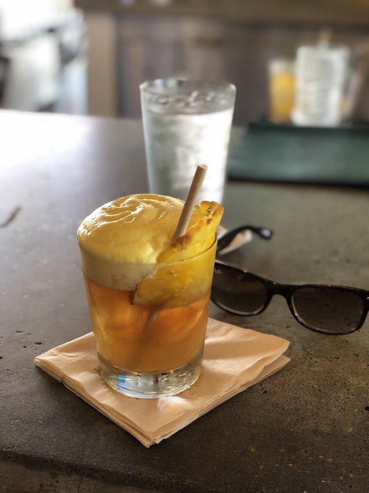 Happy Hour Mai Tai Cocktail with Rayban Sunglasses at Maui Hawaii Restaurant