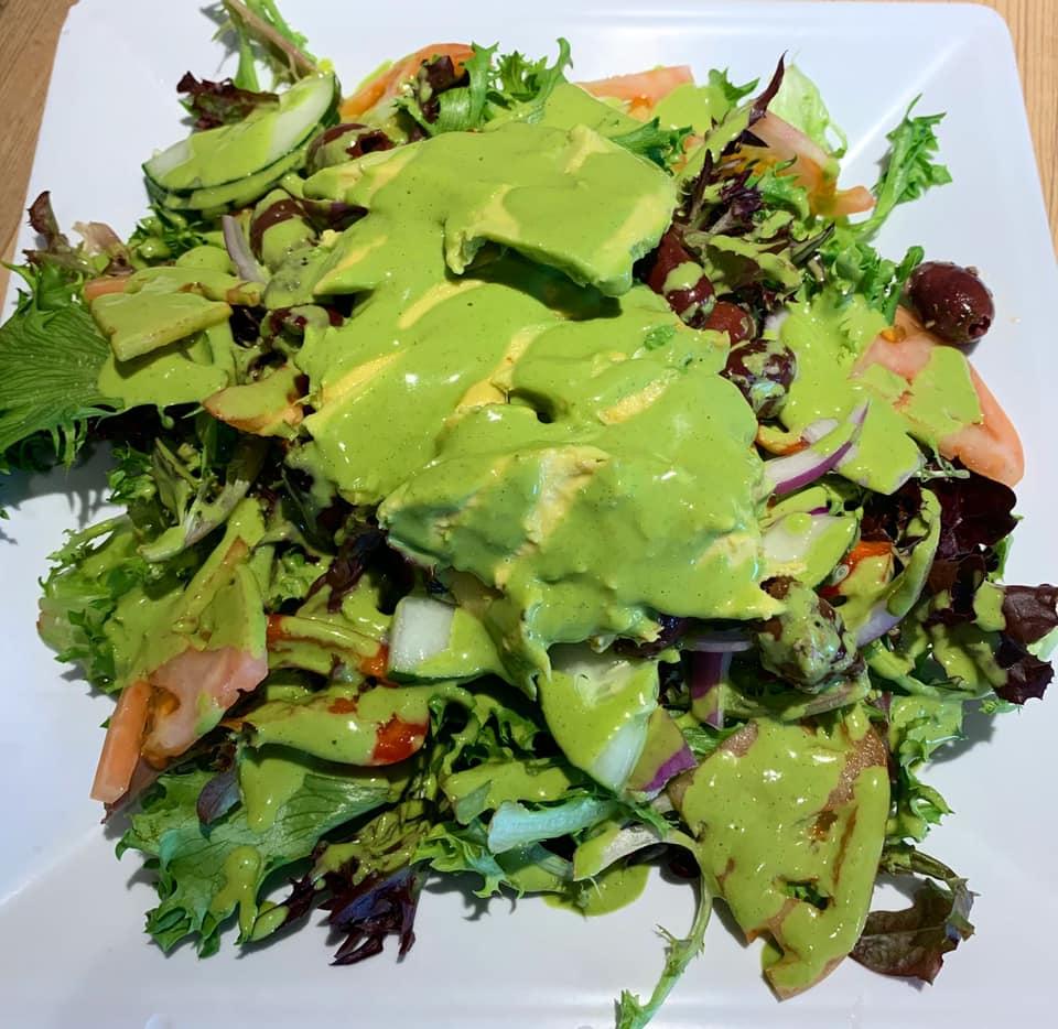 Greek Salad at Cafe Des Amis Maui