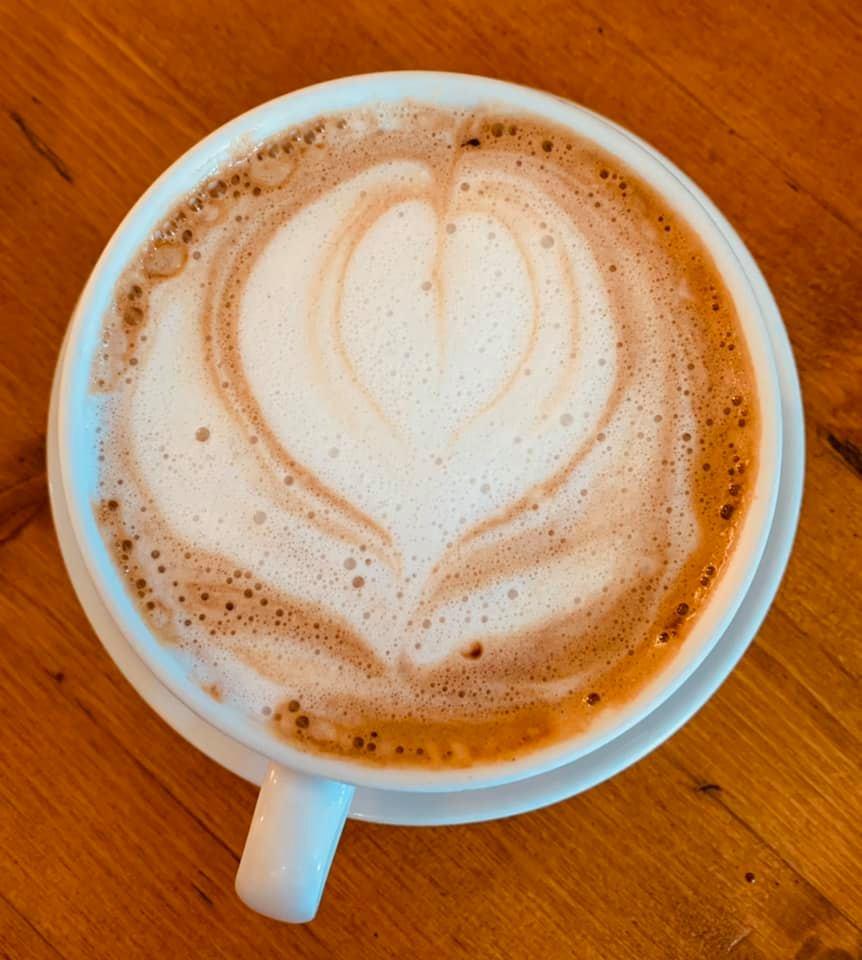 Beautiful Coffee Design at Cafe Des Amis Maui Hawaii
