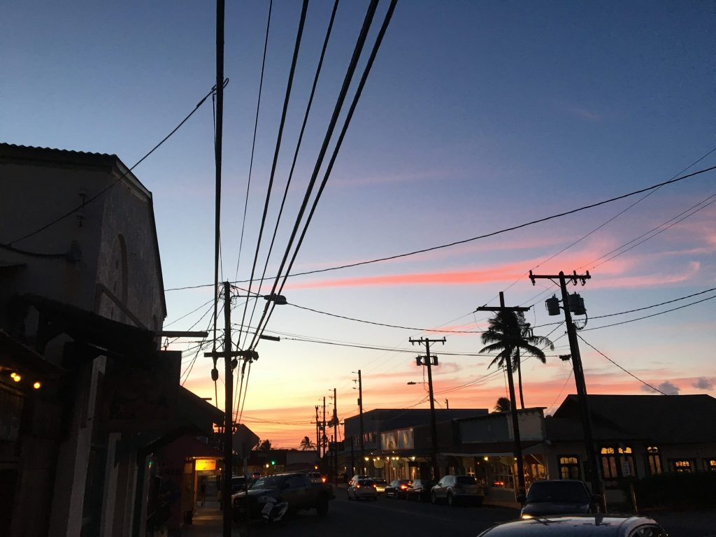 Sunset in Downtown Paia Maui Hawaii