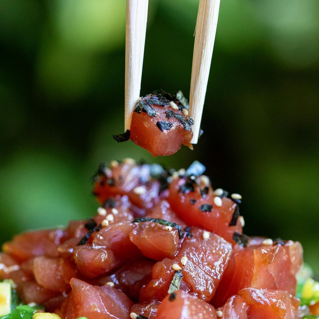 Happy Hour Down the Hatch - Ahi Tuna Poke Special