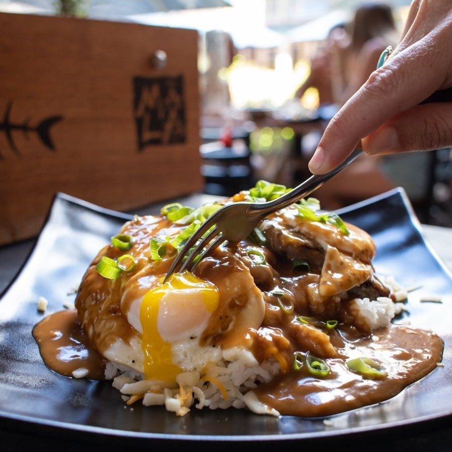 Loco Moco at Down the Hatch - Best Happy Hours in Lahaina Maui