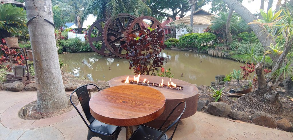 Romantic Table for Two at Cafe O'Lei at The Mill House Maui