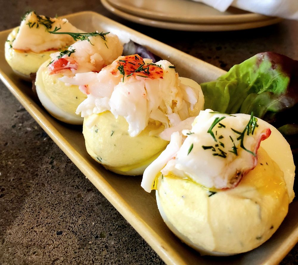 Lobster Deviled Eggs - Upscale Maui Restaurants - Five Star Dining - Delicious Food Pic