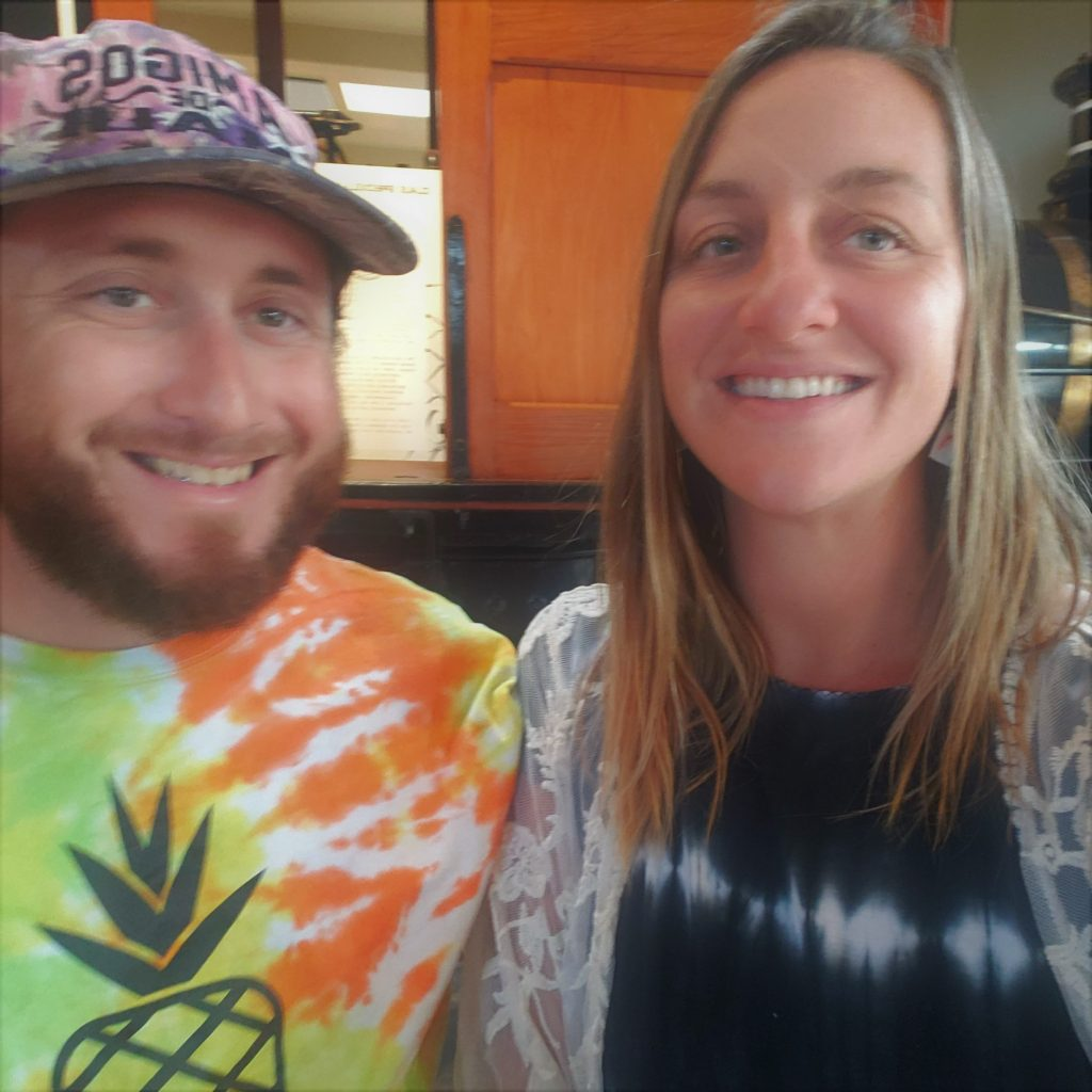 Maui Happy Hours app creator Russell Snyder and Kayla DeLong at Cafe OLei at The Mill House Restaurant and Bar