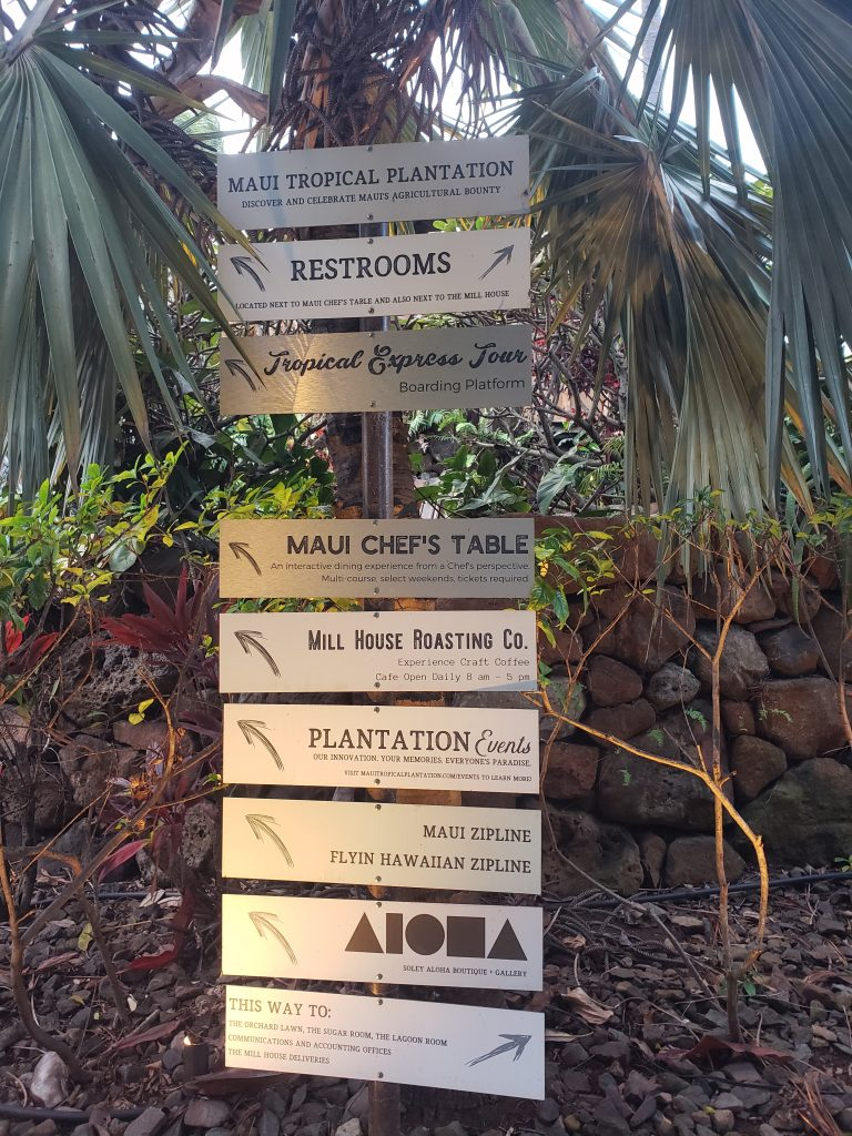 Maui Tropical Plantation Directions