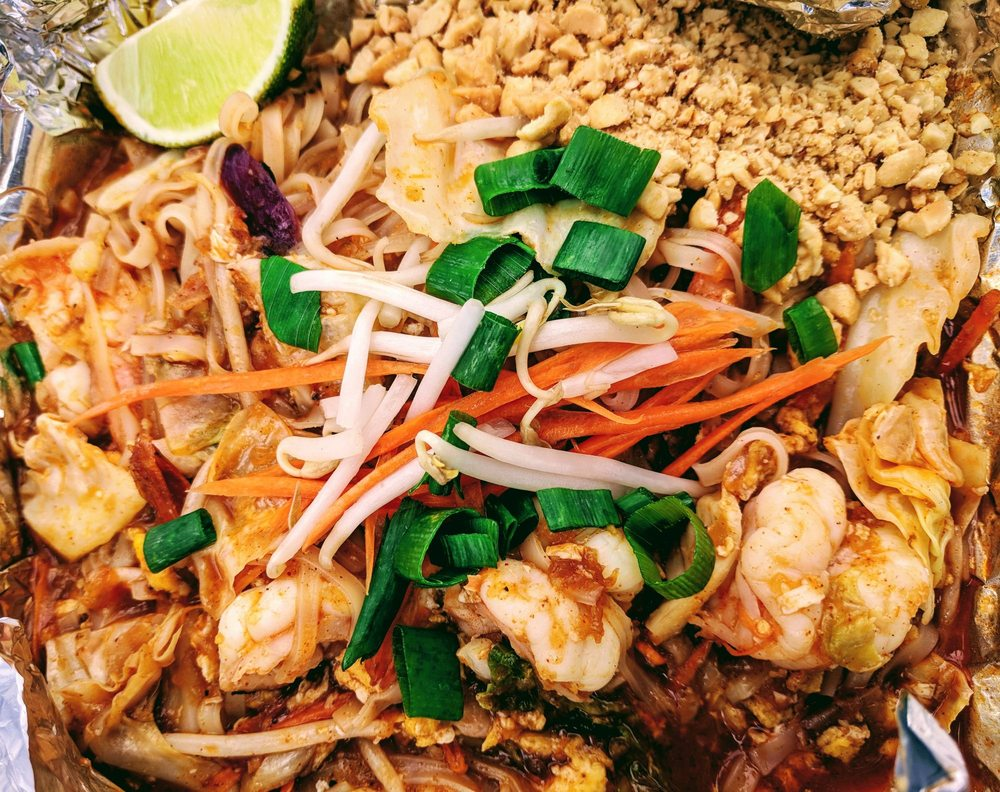 Pad Thai - Thai Food Closeup - Maui Happy Hours