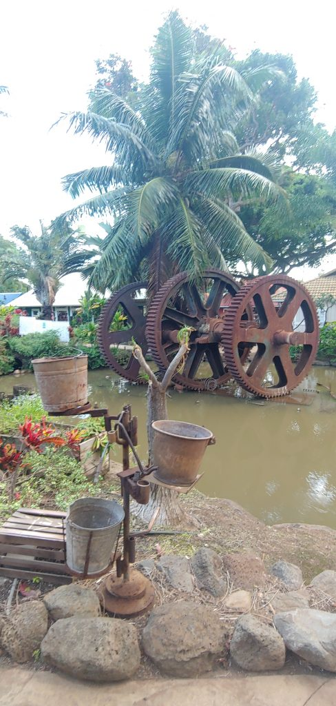 Antique Waterwheel at Maui Tropical Plantation