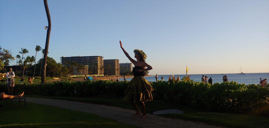 Hula Dancer at Ka'anapali Beach