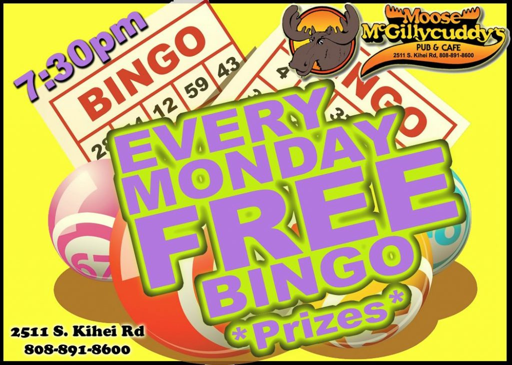 Bingo Night Moose's Bar Maui