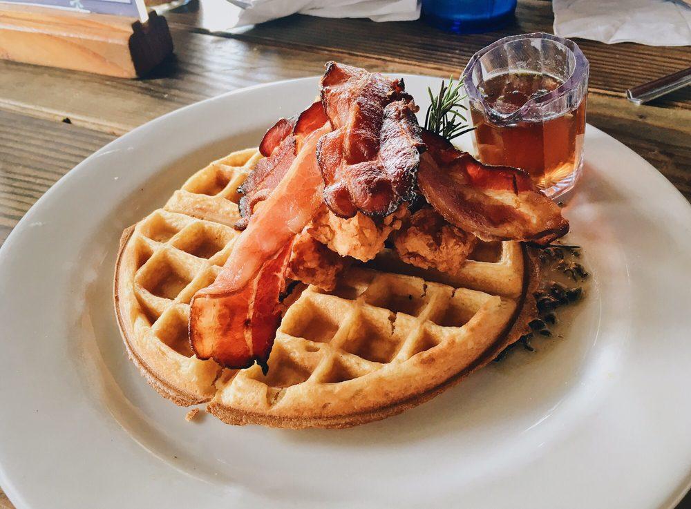 Chicken and Waffles - Nalus South Shore Grill - Kihei Maui Hawaii Restaurant