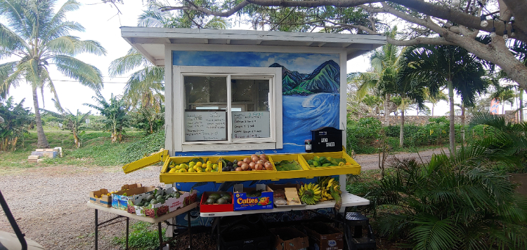 Fruit stand in Paia Maui Hawaii