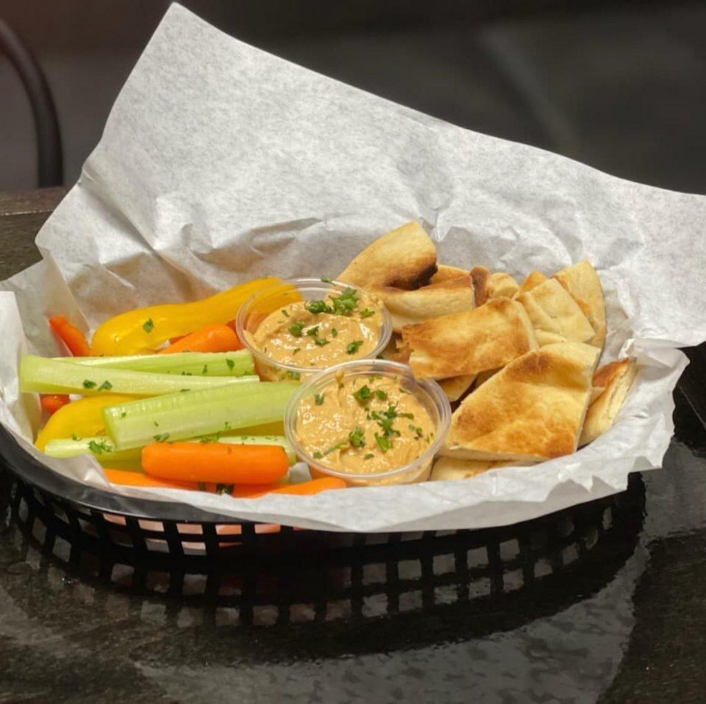 Happy Hour Hummus and Veggies