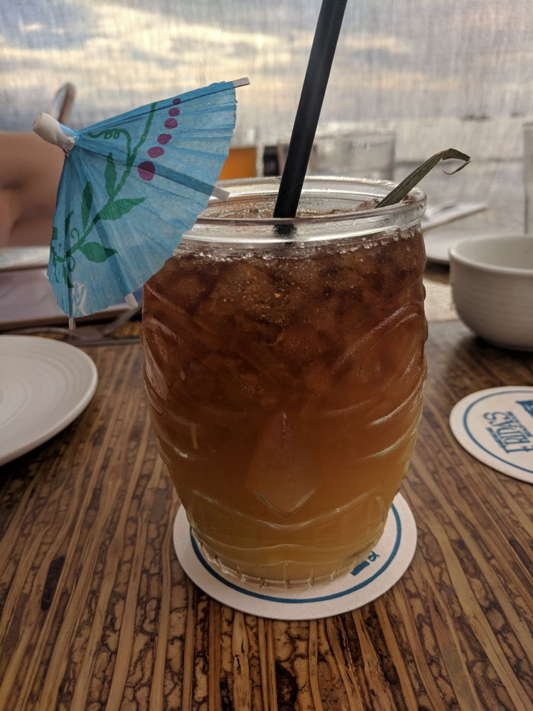 Happy Hour Mai Tai - Tropical Cocktail Drink with Little Umbrella in Maui Hawaii