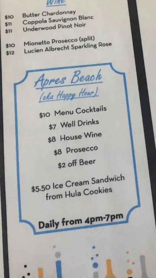 Vibe Happy Hour Specials Menu 2021