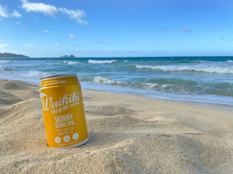 Waikiki Brewing Skinny Jeans IPA - West Coast Style India Pale Ale - Beer on the beach Hawaii