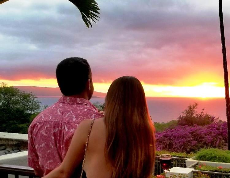Amazing Sunset at Gannons Happy Hour Wailea Maui Hawaii