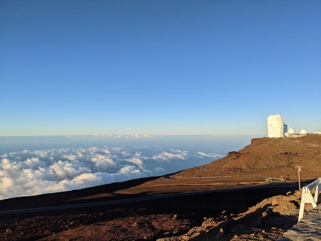 Space observatory at Haleakala Maui sunrise 2021