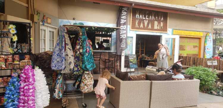 Haleakava kava bar outside at the marketplace