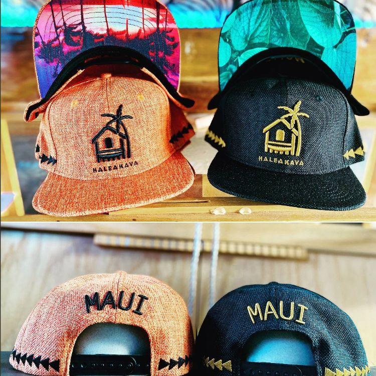 Cool hats at Haleakava Kava Bar Maui