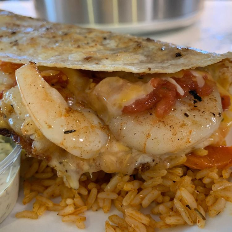 Happy hour shrimp taco
